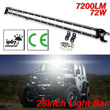 "25"" Inch 72W White LED Flood Spot Combo Beam Work Light Bar Driving Lamp Offroad"