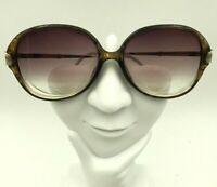 Vintage Christian Dior Brown Gold Oval Butterfly Sunglasses Eyeglasses Frames