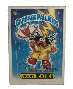 Garbage Pail Kids Stormy Heather Trading Card No. 7a