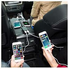 4 Port USB Passenger Car Mobile Phone Charger Extending USB HUB Front & Backseat