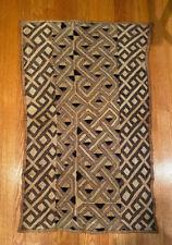 Vintage Large Kuba Cloth. Handmade In Congo.