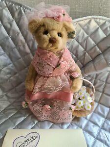 """Annette Funnicello - Virginia 9.5"""" Mohair Teddy Bear LE 291/1,500"""