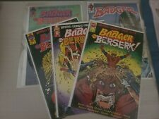 Badger Goes Berserk 1 2 3 4 (1989) limited series and #55 First Comics