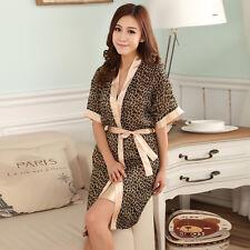 NEW Sexy Womens Silk Satin Pajamas Set Sleepwear&Robes Nightdress Nightgown P082