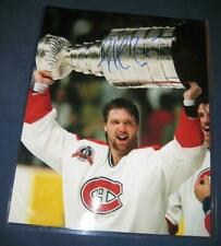 Patrick Roy Montreal Canadiens Stanley Cup Shot Signed 11x14 Photo w/COA