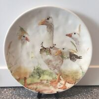 Pier 1 ~ FLOCK OF GEESE Salad Plate Silly Goose SPRING EASTER NWT
