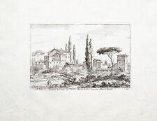 C1750 roma roma Villa Borghese muro torto grabado Duflos