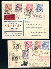 POLEN 1939 351-354 per 5 auf SAMMLERBELEGEN SST etc (C2124