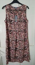 Principles pink leopard print shift dress bnwt