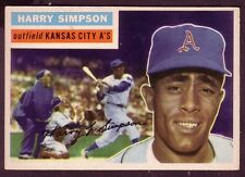 1956 TOPPS HARRY SIMPSON CARD NO:239 GRAY BACK NEAR MINT CONDITION