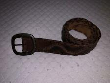 Abercrombie & Fitch Brown Tooled Braided Leather Belt