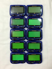 MOTOROLA CP1250 PAGERS IN BLUE WITH HOLSTERS (LOT OF 10)