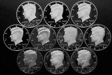 2010~2019 S Kennedy Half Dollar Gem DCam Proof Run 10 Coin Set CN-Clad US Mint.