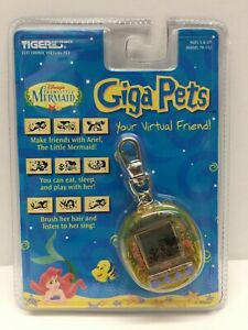 Giga Pets 1997 Disney The Little Mermaid Ariel NEW SEALED MOC Tiger Virtual Pet