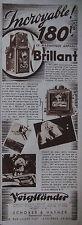 PUBLICITÉ DE PRESSE 1933 VOIGTLANDER APPAREIL BRILLANT - SCHOBER - ADVERTISING