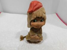 "HENNING HAND CARVED 6"" GNOME/TROLL GIRL"