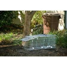 Live Animal Cage Pest Trap Large Collapsible Easy Set Raccoon,Cats,Gophers Steel