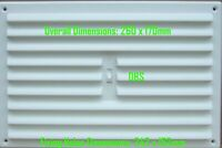 White Plastic Adjustable Hit & Miss Louvre Air Vent Grille Cover & Flyscreen ...