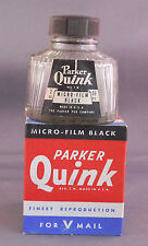 Parker Vintage Quink Bottled Ink-Micro-Film Black--NEW OLD STOCK