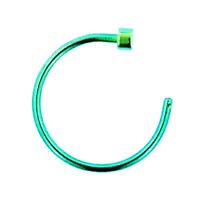 Titanium Anodized Nose Hoop Ring - Choose Colour - 1mm x 8mm