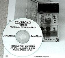 TEK Tektronix PS5004 Power Supply Operating /GPIB /Service Manuals, 2-Vol