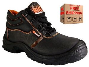 Mens MIG Steel Toe Cap Work Safety Boots - BRITISH STANDARD APPROVED - MIG