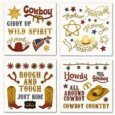 Creative Imaginations ~ROUND UP Cowboy~ Kid Family Rub-Ons Swatch Pack NEW!