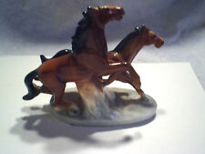 RUNNING HORSES OCCUPIED JAPAN Figurine *repaired,decorative collectible