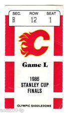1986 WORLD CHAMPION MONTREAL CANADIENS TICKET STUB STANLEY CUP PLAYOFFS GAME 1