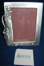 "SEAGULL PEWTER Picture Frame Golf Club Bag 1989 Canada 4"" x 3.25"" # PF1156"