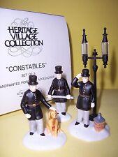 "Dept 56 ""Constables"" (Set Of 3) Heritage Village Accessories"