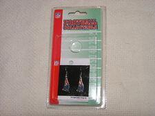 NFL New England Patriots Football Dangler Earrings NIP