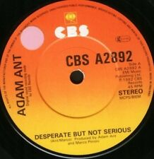 "ADAM ANT desperate but not serious a2892 sticker on label 7"" WS EX/"