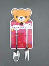 """New Kawaii Cute Bear Stainless Animal """"Spoon and Fork"""" Free Shipping"""