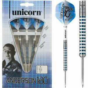 Unicorn Gary Anderson 180 Darts Steel Tip 90%Tungsten 23 Grams