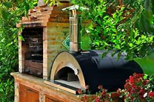 "Outdoor Wood Fired Pizza Oven ""Nonno Lillo"" With Lava Stone Floor, Made in Italy"