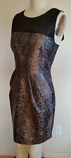 NWT H &M WOMEN'S SZ 10 SNAKE SKIN PRINT DRESS