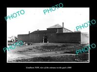 OLD LARGE HISTORIC PHOTO OF GOULBURN NSW THE ENTRANCE TO THE GAOL c1880
