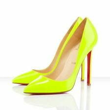 Christian Louboutin Pigalle 120 Fluo Neon Yellow Pumps Shoes 39