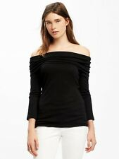 New Old Navy BLACK Off The Shoulder Shirt Top XL  NWT