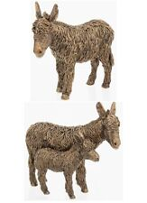 More details for shudehill bronze textured effect donkey and foal figure ornament boxed