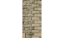 """OO Grey Sandstone Walling Papers - Superquick D10 - 6 sheets 7x10"""" - free post"""