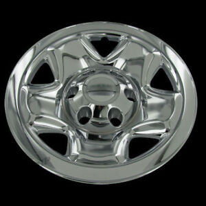 """For 2005-15 Toyota Tacoma 4 16"""" Chrome Wheel Skin Hubcaps Covers"""