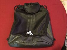 Adidas backpack cinch sack drawstring book bag large black