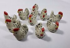 50PCS Tiny Chicken Farm Rooster Ceramic Miniature Dollhouse Figurine Bed Widding