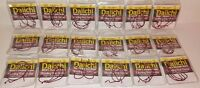 CLOSEOUT LOT Daiichi Bass Hooks 3/0, 4/0, and 5/0 Fat Gap Bleeding Bait 18 Packs