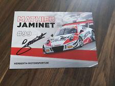 ADAC GT Masters Autogrammkarte Porsche GT3 Jaminet signiert