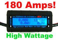 180 AMPS Real HIGH POWER Watt Meter BIG WIRE  HEAVY 8 AWG Solar/Wind Turbines