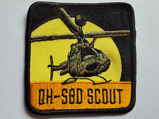 U.S. ARMY QH-Sqd Scout Helicopter ricamate patch