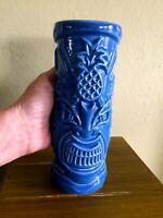 Tommy Bahama Rum Tiki Bar Ceramic Tropical Cocktail Tumbler Blue Pineapple MINT